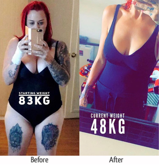 tracey before and after gastric sleeve